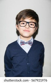 Party boy with glasses and bow tie
