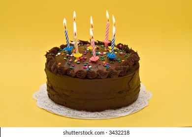 A party cake celebrating an anniversary or birthday.