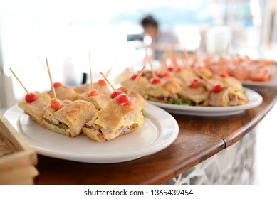 Party catering with Thai food and burgers