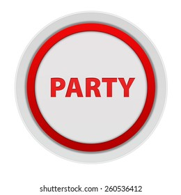 Party circular icon on white background