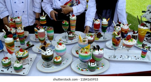party colorful puding