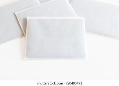 open envelope on white background front stock illustration