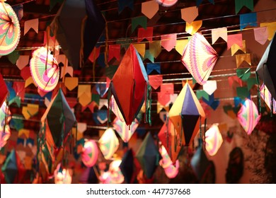 Party decor. South latin american traditional decor party. Decoration for festa junina / june party decoration.