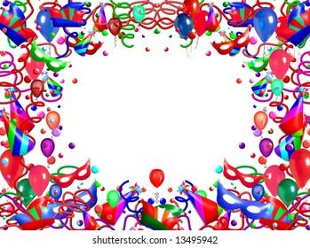 Birthday Party Frame Stock Illustration 14005813 Shutterstock