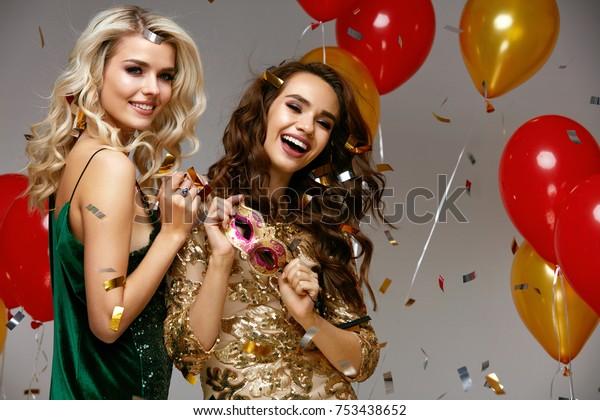 48dd6fa9986 Party Fun Beautiful Girls Celebrating New Stock Photo (Edit Now ...