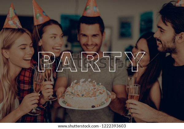 Excellent Party Glasses Champagne Guys Birthday Happy Stock Photo Edit Now Funny Birthday Cards Online Alyptdamsfinfo
