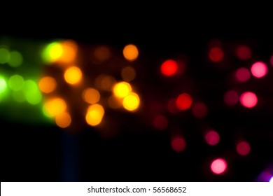 Party lights de-focused background