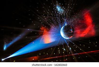 Party Lights on a Discoball