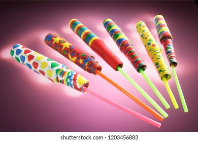 Party Novelties with Purple Background