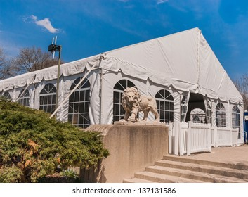 Party Tent or a big white banquet wedding tent for ceremonies