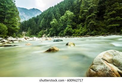 Parvati river, Kasol, India