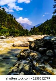 Parvati River in Parvati Valley, Himachal Pradesh