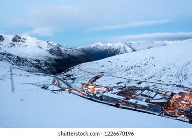 Pas de la Casa, Andorra : 2018 November 9: Cityscape of Pas de la Casa, Encamp, Andorra