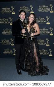 PASADENA - APR 27: Kristos Andrews, Jade Harlow at the 45th Daytime Creative Arts Emmy Awards Gala at the Pasadena Civic Center on April 27, 2018 in Pasadena, California