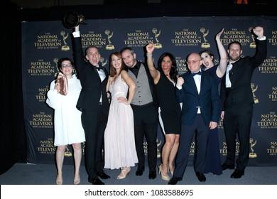 PASADENA - APR 27: Nick Junior, Girls in Charge at the 45th Daytime Creative Arts Emmy Awards Gala at the Pasadena Civic Center on April 27, 2018 in Pasadena, California