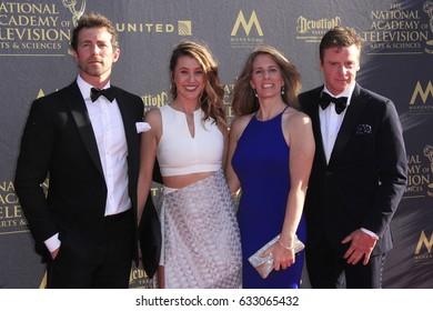 PASADENA - APR 28: Allie Stewart, James Marschall at the 44th Daytime Creative Arts Emmy Awards Gala at the Pasadena Civic Centerl on April 28, 2017 in Pasadena, California