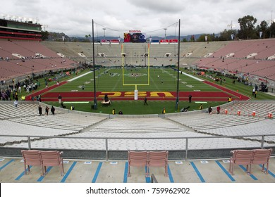PASADENA, CA - JAN 2: A general view of the Rose Bowl stadium before the 103rd Rose Bowl Game between the Penn State Nittany Lions & the USC Trojans on January 2nd 2017 at the Rose Bowl.