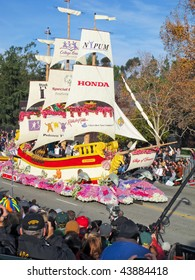 "PASADENA, CA - JANUARY 1: Honda's float called ""Ship of Dreams,"" participated in the 121th Tournament of Roses Parade on January 1, 2010 in Pasadena, California."