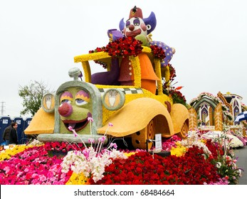 PASADENA, CA - JANUARY 1: The Shriners Hospitals for Children float was shown at the 122nd Tournament of Roses Parade on January 1, 2011 in Pasadena, California.