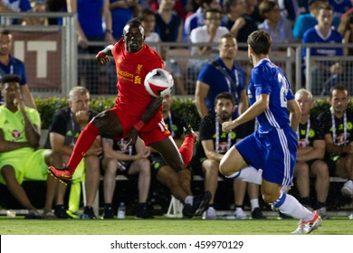 PASADENA, CA - JULY 27: Sadio Mane during the 2016 ICC game between Chelsea & Liverpool on July 27th 2016 at the Rose Bowl in Pasadena, Ca.