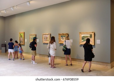 PASADENA, CA -  JULY 8, 2017: The Norton Simon Museum is known around the world as one of the most remarkable private art collections ever assembled on July 8, 2017 in Pasadena, CA - USA