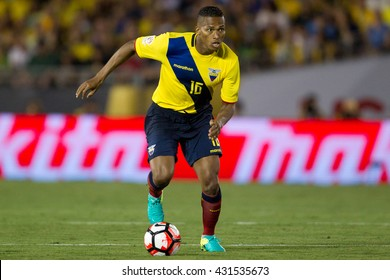 PASADENA, CA - JUNE 4: Luis Valencia during the COPA America game between Brazil & Ecuador on June 4th 2016 at the Rose Bowl in Pasadena, Ca.