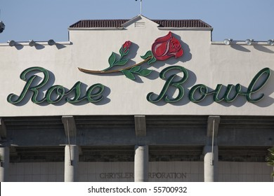 PASADENA, CA - OCTOBER 17: The world famous Rose Bowl football stadium on October 17, 2009 in Pasadena, CA.  It is home to the UCLA Bruins and an NCAA tournament bowl.