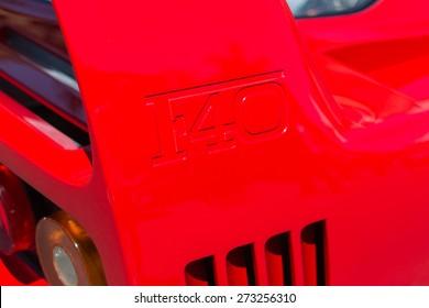 Pasadena, CA - USA - April 26, 2015: Ferrari F40 car on display at the 8th Annual Ferrari Concorso car event