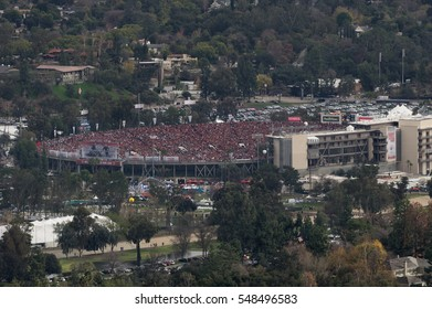 PASADENA, CA, USA - JANUARY 2, 2017: The Rose Bowl Game is an annual American college football bowl game, usually played on January 1 (New Year's Day) at the Rose Bowl stadium in Pasadena, .