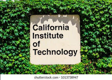 Pasadena, CA / USA - May 24 2011: California Institute of Technology's (CalTech) entrance sign board