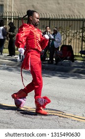 PASADENA, CALIFORNIA, USA - FEBRUARY 16, 2019: 37th Annual Black History Parade and Festival which celebrates Black Heritage and Culture. The community and surrounding cities joined the celebration.