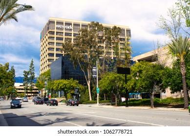 PASADENA, CALIFORNIA, USA - MARCH 2018: WeWork coworking center in Pasadena