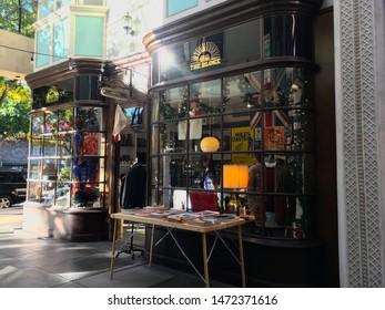 Pasadena, CA/USA - December 15th, 2018:The Bloke men's clothing store at the historic Burlington Arcade