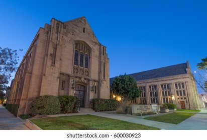 PASADENA, CA/USA - JANUARY 29, 2017: First United Methodist Church shown at dawn.