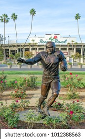 PASADENA, CA/USA - JANUARY 7, 2018: Jackie Robinson Memorial and Rose Bowl. Jackie was the first African American to play in Major League Baseball.