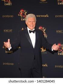 Pasadena, CA/USA - May 5, 2019: Alex Trebek attends the 2019 Daytime Emmy Awards.