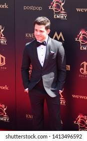 Pasadena, CA/USA - May 5, 2019: Zach Tinker attends the 2019 Daytime Emmy Awards.