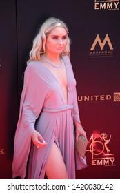Pasadena, CA/USA - May 5, 2019: Eva Paris Cicinyte attends the 2019 Daytime Emmy Awards.
