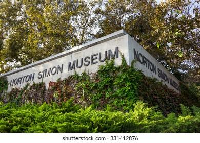 PASADENA, CA/USA - OCTOBER 14, 2015: Norton Simon Museum exterior. The Norton Simon Museum is an art museum.