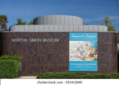 PASADENA, CA/USA - OCTOBER 24, 2015: Norton Simon Museum exterior. The Norton Simon Museum is an art museum.