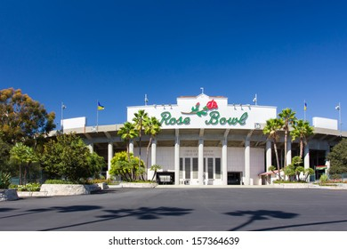 PASADENA, CA/USA - September 29:  The Rose Bowl in Pasadena California is home to the college UCLA Bruins football team. The stadium is a National Historic Landmark . September 29, 2013.