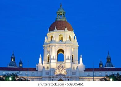 Pasadena City Hall at Twilight
