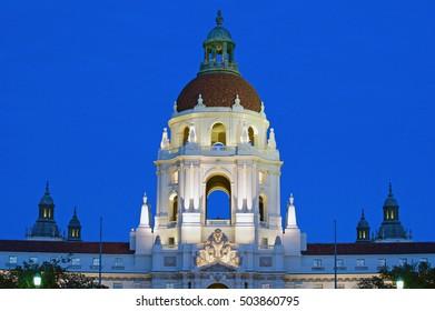 Pasadena City Hall at Twilight.