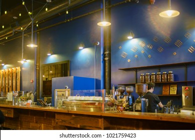 Pasadena, JAN 25: Interior view of the Intelligentsia Coffeebar on JAN 25, 2018 at Pasadena, California