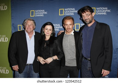 PASADENA - JAN 3: Graham Beckel, Geraldine Hughes, Jesse Johnson, Billy Campbell of 'Killing Lincoln' at the National Geographic Channels TCA party on January 3, 2013 in Pasadena, CA
