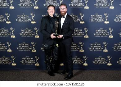PASADENA - May 3: John Carlson, Nico Svoboda in the press room at the 46th Daytime Creative Arts Emmy Awards Gala at the Pasadena Civic Center on May 3, 2019 in Pasadena, CA