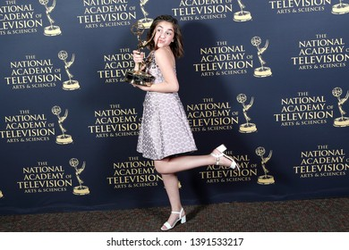 PASADENA - May 3: Michela Luci in the press room at the 46th Daytime Creative Arts Emmy Awards Gala at the Pasadena Civic Center on May 3, 2019 in Pasadena, CA