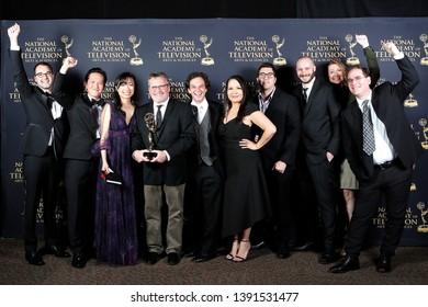 PASADENA - May 3: Outstanding Interactive Media for a Daytime Program in the press room at the 46th Daytime Creative Arts Emmy Awards Gala at the Pasadena Civic Center on May 3, 2019 in Pasadena, CA