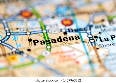 Pasadena. Texas. USA on a geography map