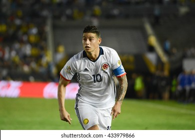 Pasadena, USA - June 07, 2016: James Rodriguez during Copa America Centenario match Colombia vs Paraguay at the Rose Bowl Stadium.